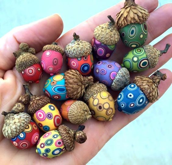 decoratiuni din ghinde si castane Acord and chestnut crafts 10