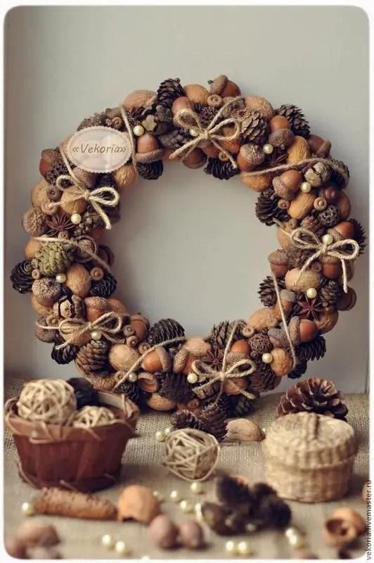 decoratiuni din ghinde si castane Acord and chestnut crafts 14