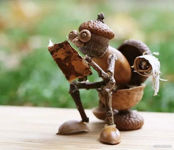 decoratiuni din ghinde si castane Acord and chestnut crafts 8