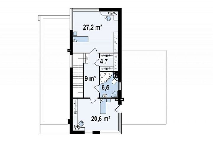 proiecte de case moderne cu etaj Modern two story house plans 8