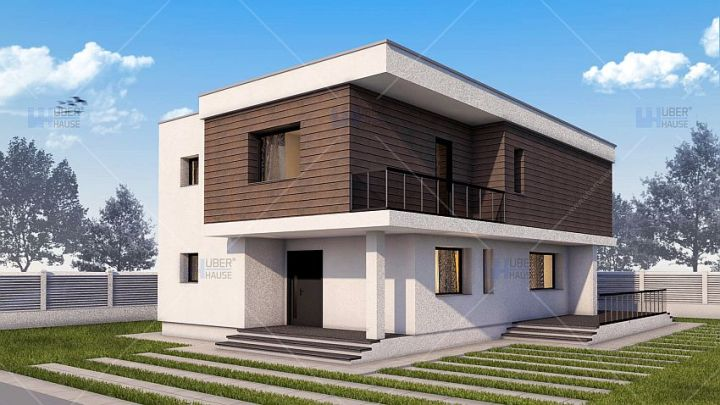 proiecte de case moderne cu etaj Modern two story house plans 9