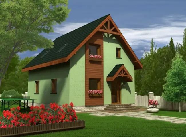 casa simpla cu mansarda tip vila