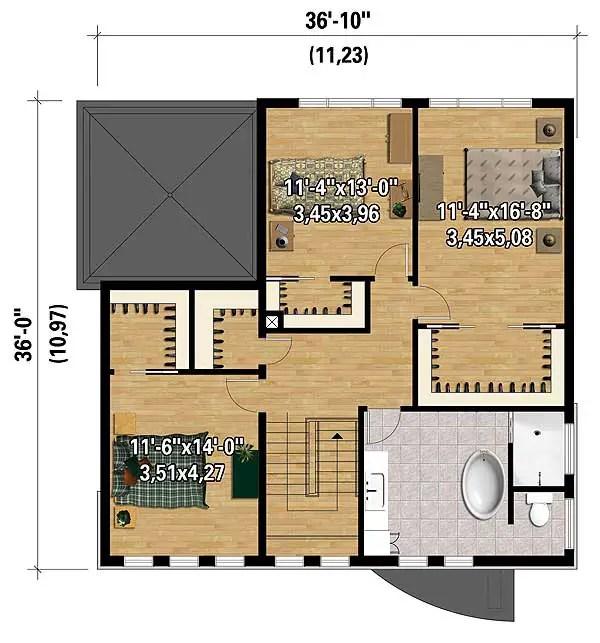 casa cubica 3 plan etaj