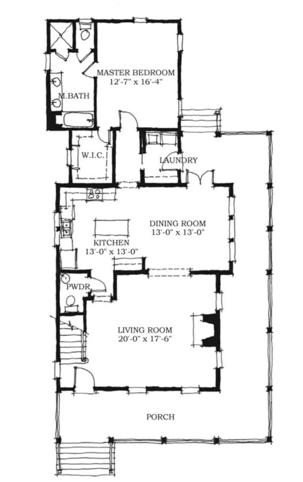 case de vis cu trei dormitoare 2 plan