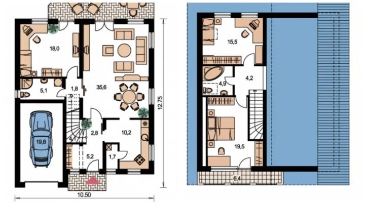 case ieftine din prefabricate planuri vila