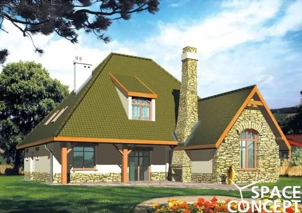 proiecte de case rustice cu mansarda