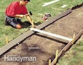 turnarea unei alei de beton structura