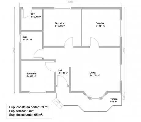 case mici din lemn si OSB 1 plan