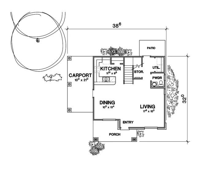 case pe terenuri de 400 de metri patrati 3 plan parter