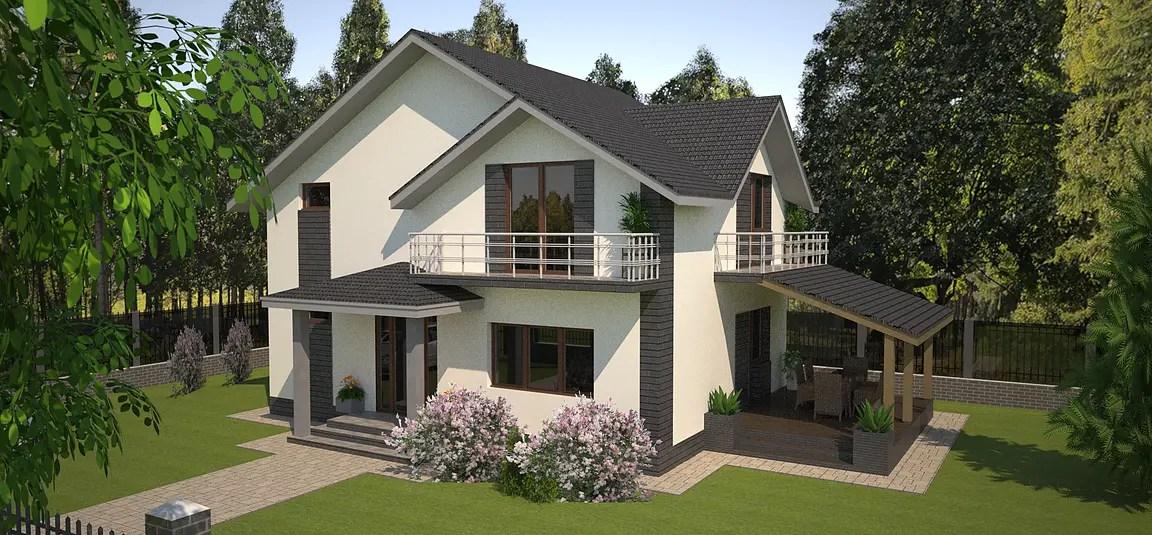 Proiecte de casa cu parter si mansarda locuinte for Proiecte case parter