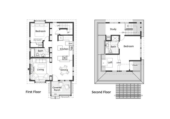 proiecte de case mici si cochete 1 plan