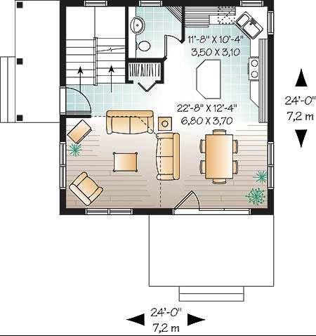 Este un model cu o arhitectura simpla, dar deosebita in acelasi timp, ce se remarca prin imensitatea ferestrelor din dreptul camerei de zi. 2 plan parter