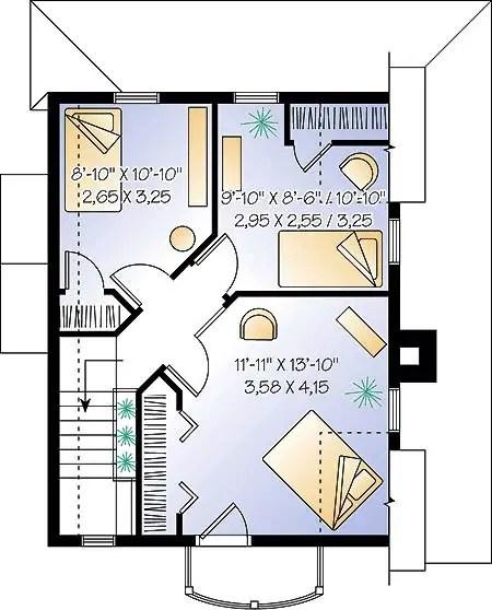 case cu amprenta la sol de 50 mp 3 plan mansarda