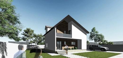 case cu mansarda pentru tineri 3 fatada