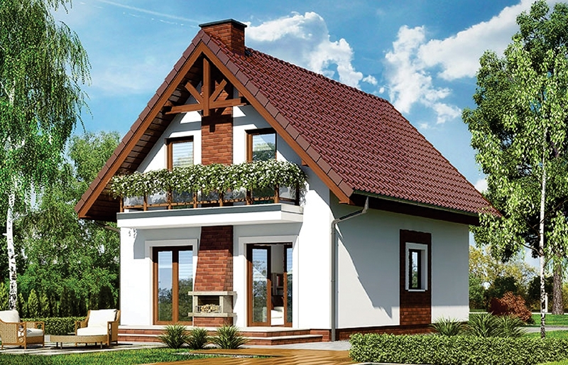 modele de case mici cu mansarda