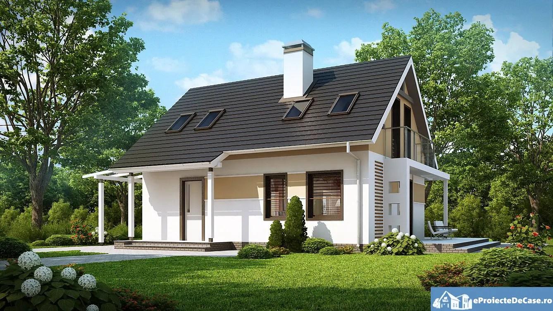 Modele de case mici cu mansarda accesibile si potrivite for Design exterior fatade case
