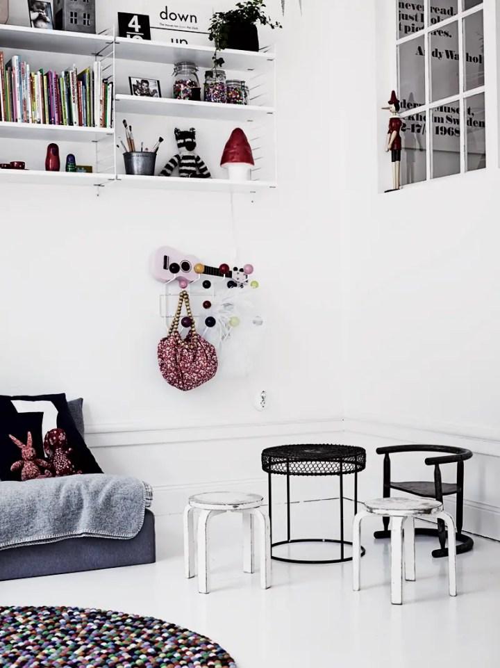 casa in stil scandinav colt pentru copii