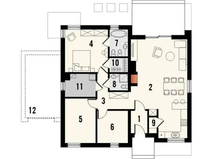 case parter cu 3 dormitoare