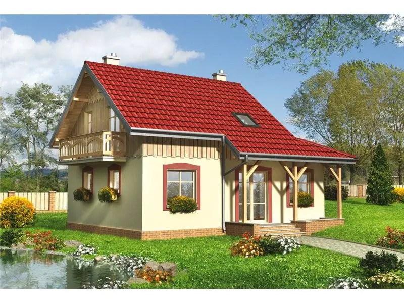 case cu mansarda imbracata in lemn