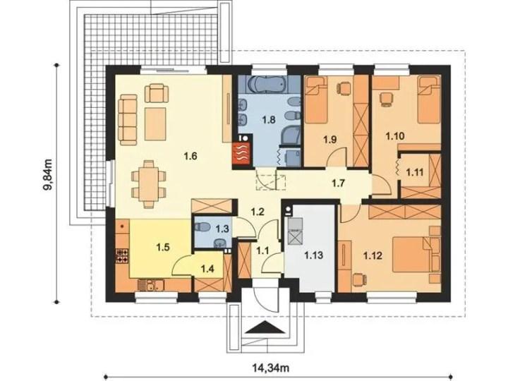 case pentru o familie cu 2 copii