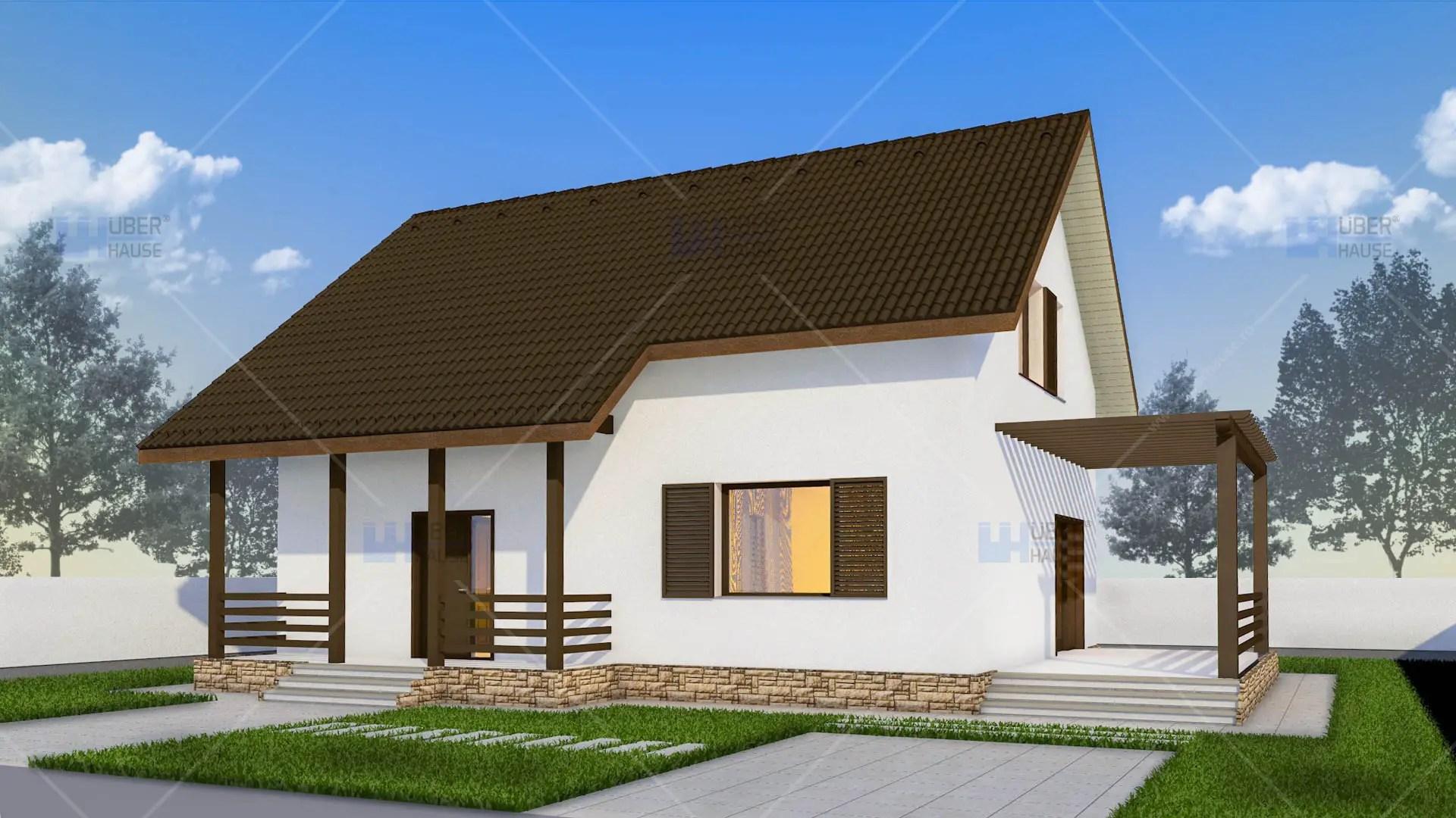 Modele moderne de case de vacanta pentru toate buzunarele for Proiecte case cu mansarda 2017