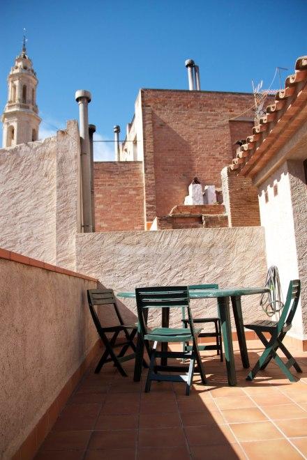 Àmplia terrassa amb la que gaudir del bon clima d'Alforja