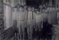 Typical Workers in Barker Cotton Mills Where Good Conditions Prevail, Mobile, Ala., #3826 by Lewis Hine
