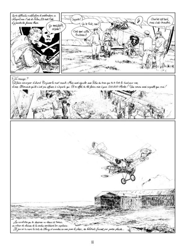 Le célèbre insigne de Charles Nungesser - une tête de mort au-dessus de deux tibias entrecroisés, surmontée par un cercueil encadré par deux chandeliers, le tout représenté dans un cœur noir à liseré blanc - peint ici sur l'un des Nieuport 17 qu'il a piloté à partir de 1916. De quoi faire froid dans le dos...