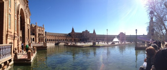 Panorama of Plaza de España