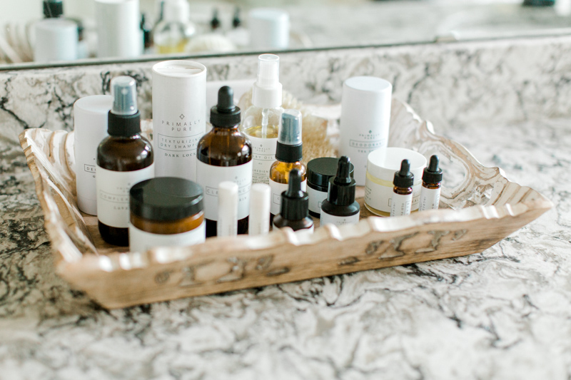 Collection of Primally Pure non-toxic all-natural skincare products