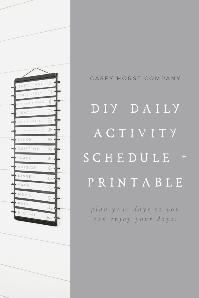 Daily Activity Schedule | Casey Horst Company