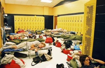 FEMA's lodging for Americorps volunteers during relief efforts immediately after Hurricane Katrina.