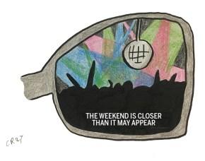 weekend car mirror
