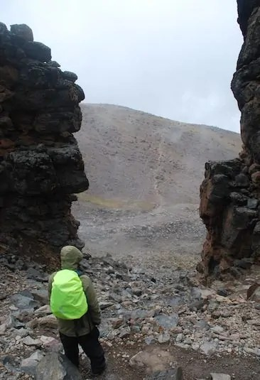A look at the gorges and drops after the Lava Tower on Mt. Kilimanjaro