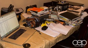 A view of the mess that's on our table right now as I try to sort through literally PILES of stuff.