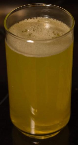 The Arbonne Essentials Energy Fizz Tab Citrus drink, post-dissolving