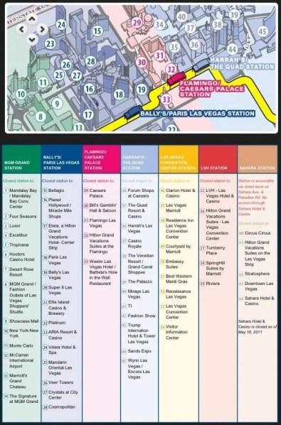 Las Vegas — Monorail Map