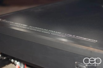 "The description for the Corvette's aluminum frame which reads: ""Corvette Aluminum Frame, 178.9 Kilograms, Manufactured in Bowling Green, Kentucky"""