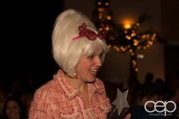 The Fairy Godmother (Barb Scheffler) in mid-conversation