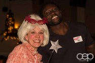 The Fairy Godmother (Barb Scheffler) posing with Yaw Attuah