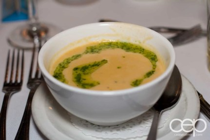 Some cheddar jalapeno soup with ale at Mysteriously Yours... Mystery Dinner Theatre