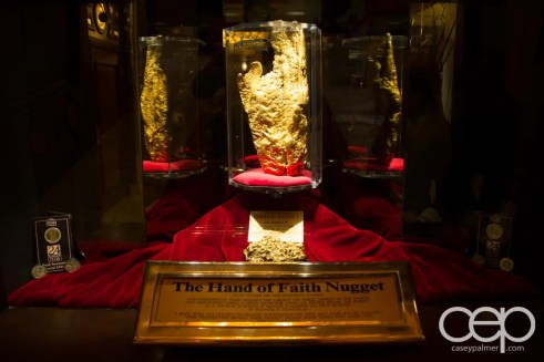 The Hand of Faith Nugget at The Golden Nugget Hotel & Casino in Las Vegas, Nevada