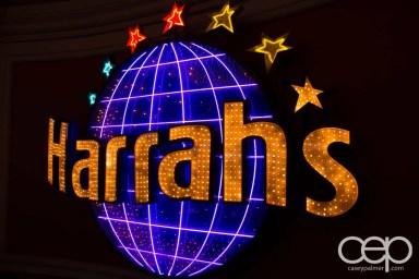 The parking sign for Harrah's Hotel & Casino in Las Vegas