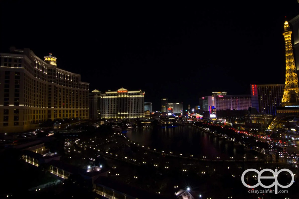 The Cosmopolitan Wraparound Terrace Suite—A Room With a View—Nighttime