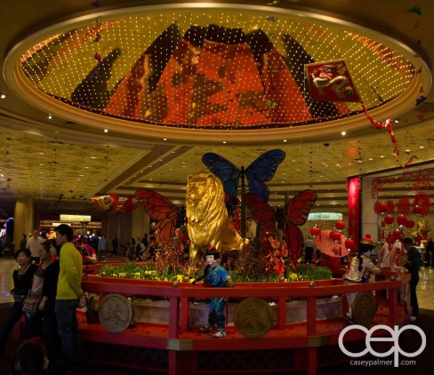 Las Vegas — The Bellagio Hotel & Casino — Chinese New Year decorations