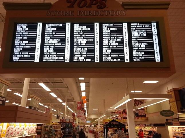 TOPS' directory of goods in Buffalo, NY.