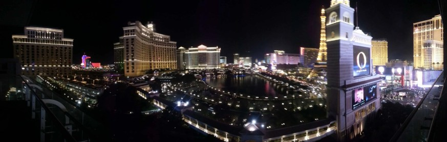 The Cosmopolitan Wraparound Terrace Suite — A Room With a View — Nighttime