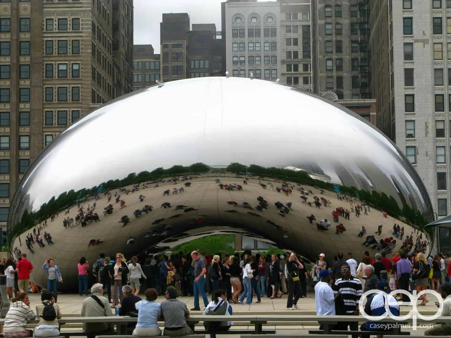 "Chicago's ""Cloud Gate"" sculpture, otherwise known as ""The Bean""."