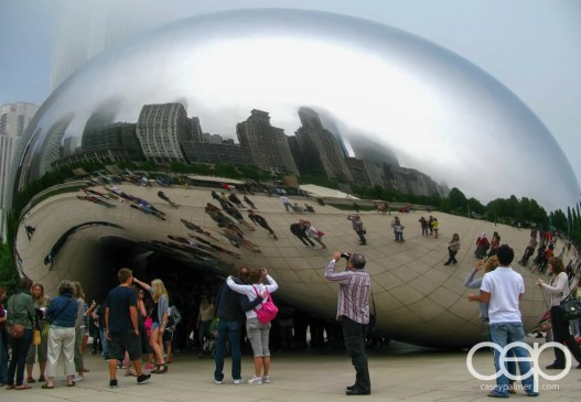 One of the various shots of the Cloud Gate in Chicago, IL