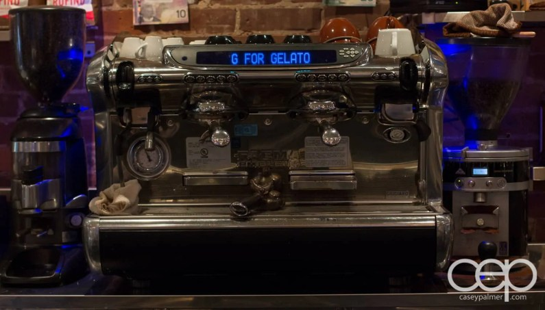 G... for Gelato and Espresso Bar — Faema Emblema